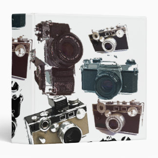 Grunge photographer photography Vintage Camera Binder