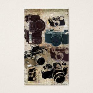 Grunge photographer photography Vintage Camera Business Card