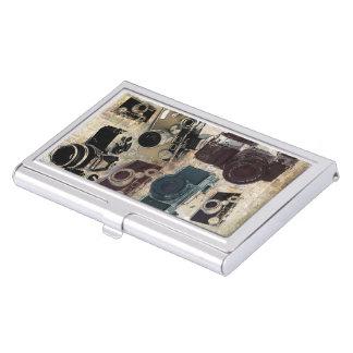Grunge photographer photography Vintage Camera Business Card Case