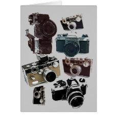 Grunge photographer photography Vintage Camera Card