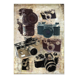Grunge photographer photography Vintage Camera Card