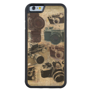 Grunge photographer photography Vintage Camera Carved Maple iPhone 6 Bumper Case