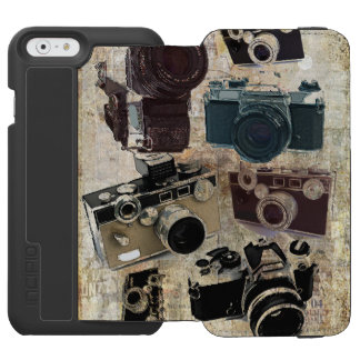 Grunge photographer photography Vintage Camera iPhone 6/6s Wallet Case