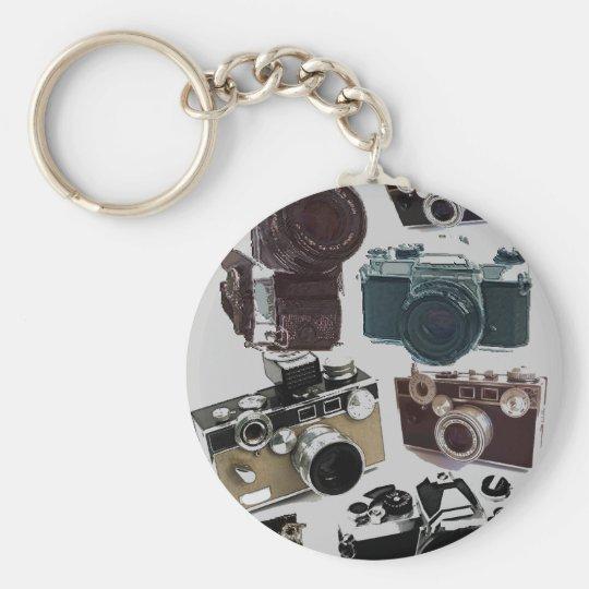 Grunge photographer photography Vintage Camera Keychain