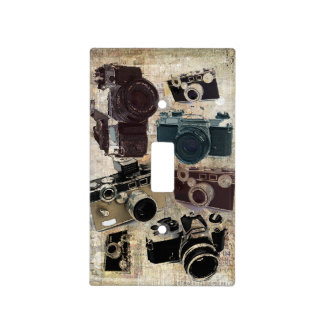 Grunge photographer photography Vintage Camera Light Switch Cover