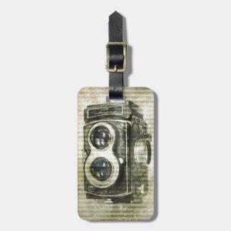 Grunge photographer photography Vintage Camera Luggage Tag
