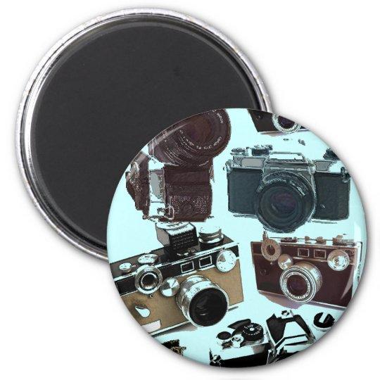 Grunge photographer photography Vintage Camera Magnet