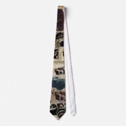 Grunge photographer photography Vintage Camera Neck Tie
