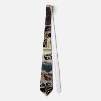 Grunge photographer photography Vintage Camera Neck Tie