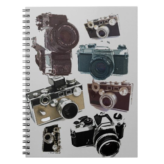 Grunge photographer photography Vintage Camera Notebook