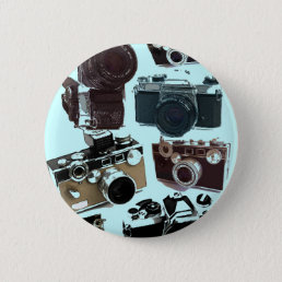 Grunge photographer photography Vintage Camera Pinback Button