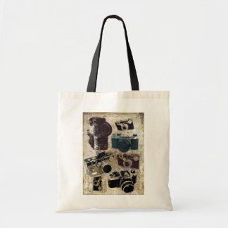 Grunge photographer photography Vintage Camera Tote Bag