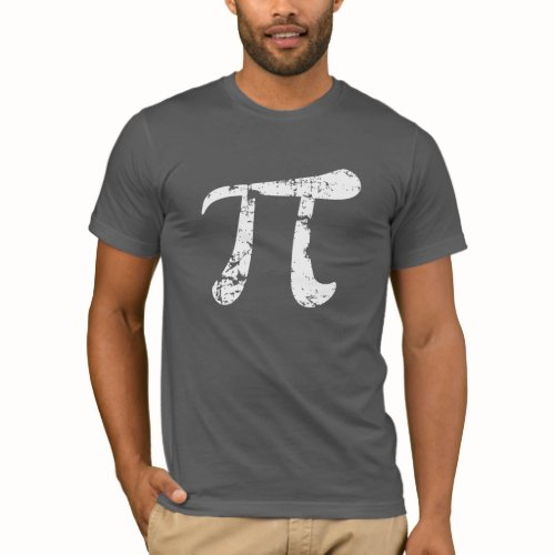 image of Pi symbol gray t-shirt