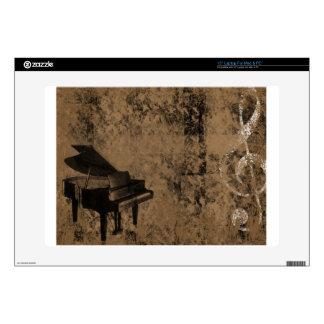 """Grunge Piano 15"""" Laptop Decal"""