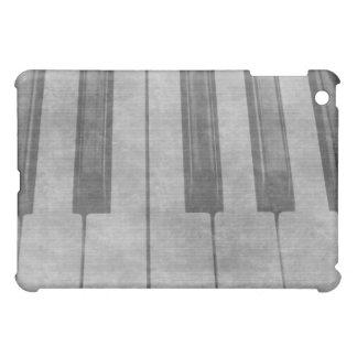 Grunge piano keyboard muted grey image iPad mini case