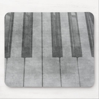 Grunge piano keyboard muted grey image mouse pads