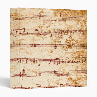 Grunge piano notes music sheet binder