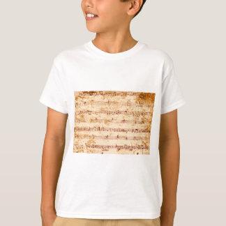 Grunge piano notes music sheet T-Shirt
