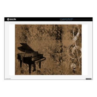 Grunge Piano Skin For Laptop