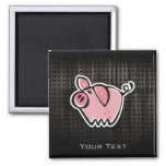 Grunge Pig 2 Inch Square Magnet