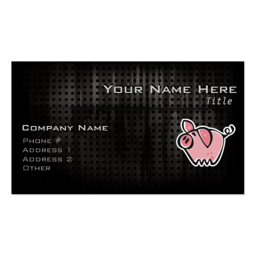Grunge Pig Double-Sided Standard Business Cards (Pack Of 100)