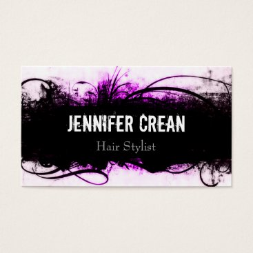 Professional Business Grunge Pink and Black Business Card