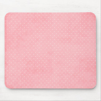Grunge pink and white dots mouse pad