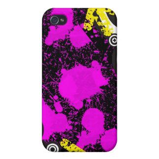 Grunge Pink Customizable  Decor Design Case For iPhone 4