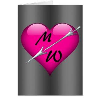 Grunge Pink Heart Valentine
