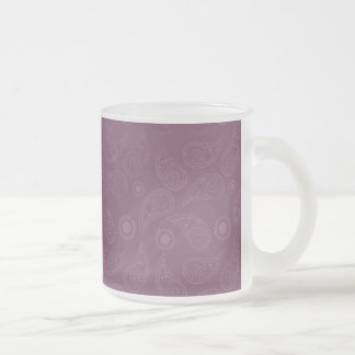 Grunge Pink Paisley Modern Pattern Frosted Glass Coffee Mug