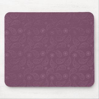 Grunge Pink Paisley Modern Pattern Mouse Pad