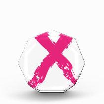 Grunge Pink Ribbon Award