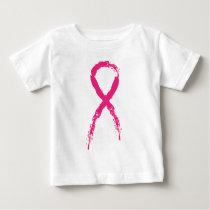 Grunge Pink Ribbon Baby T-Shirt