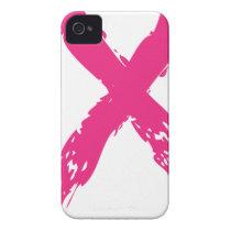 Grunge Pink Ribbon iPhone 4 Case-Mate Case