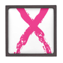 Grunge Pink Ribbon Gift Box