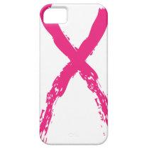 Grunge Pink Ribbon iPhone SE/5/5s Case
