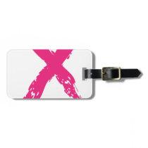 Grunge Pink Ribbon Luggage Tag
