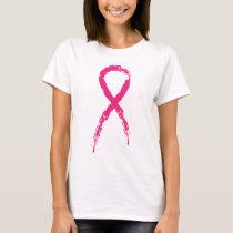 Grunge Pink Ribbon T-Shirt