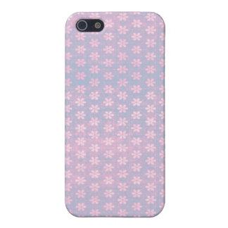 Grunge Pink - Sky Blue Flowers iPhone Case