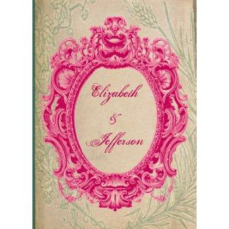 Grunge Pink Vintage Frame Wedding Invitations invitation