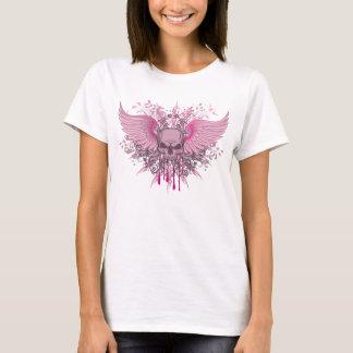 GRUNGE PINK WINGED SKULL T-Shirt