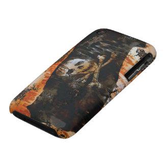 Grunge Pirate Skull & Crossbones Flag iPhone Case