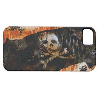 Grunge Pirate Skull & Crossbones Flag Phone Case