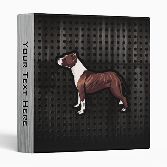 Grunge Pitbull 3 Ring Binder
