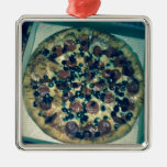 Grunge pizza apparel and items christmas tree ornaments