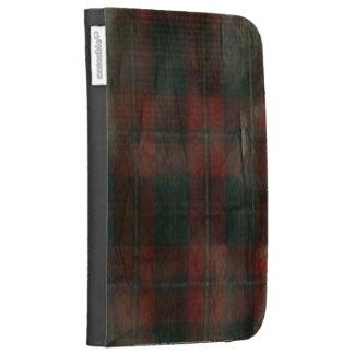 """Grunge Plaid"" Caseable Kindle Folio Kindle 3 Cases"