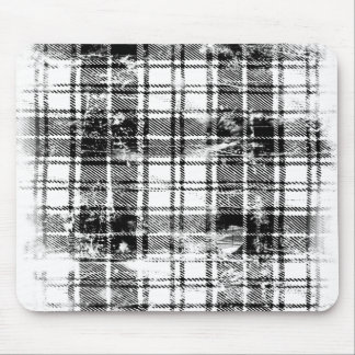 Grunge Plaid Mouse Pad