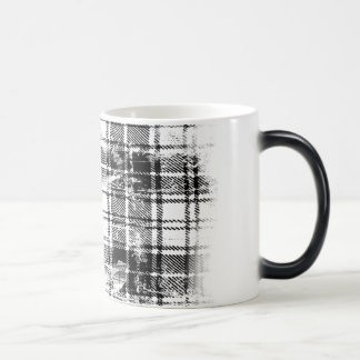 Grunge Plaid 11 Oz Magic Heat Color-Changing Coffee Mug