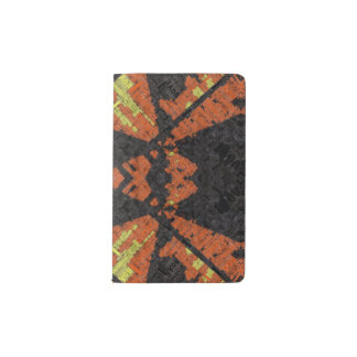 Grunge Plaid Pattern Pocket Moleskine Notebook Cover With Notebook