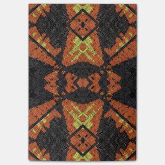 Grunge Plaid Pattern Post-it® Notes